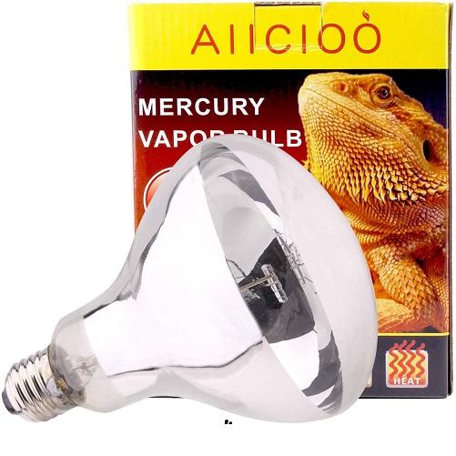 AIICIOO UVB UVA Bombilla Calor de Reptiles y Anfibios Promover la Síntesis D3 para Tortuga/Camaleón/Serpiente/Polluelo E27 220-240V 100W