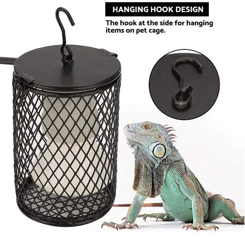 lampara de calor con protector