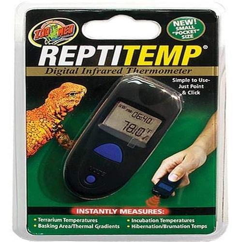 termómetro infrarrojos para terrarios