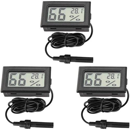 termómetro digital para terrarios